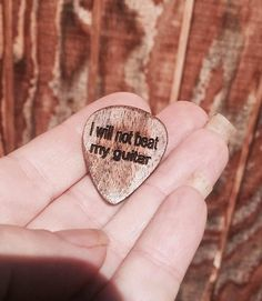 Guitar Pick Saying of your choice Engraved Guitar pick