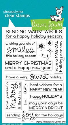 LAWN FAWN: Merry Messages
