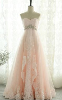 Prom Dresses Beautiful, Pink Sweetheart Beading Lace Tulle Lace Up Open Back A-Line Long Prom Dress, Prom Dresses, Looking for the perfect prom dress to shine on your big night? Prom Dresses 2020 collection offers a variety of stunning, stylish ball. Cute Prom Dresses, Elegant Dresses, Pretty Dresses, Homecoming Dresses, Beautiful Dresses, Bridesmaid Dresses, Wedding Dresses, Dress Prom, Formal Dresses