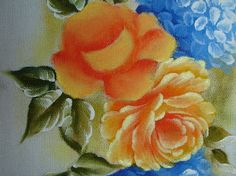 Pintura Em Tecido - Venha Aprender Pintura em Tecido: Rosa Amarela Passo a Passo Pintura Em Tecido