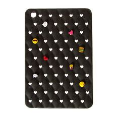 Silicone Black Glitter Cover with Mix & Match Charms for iPad Mini