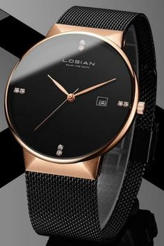 Diamond Minimalist Rose Gold Stainless Steel Watch Diamond Minimalist Watch - Diamond Watches Collection : AM to PM // watches // mens fashion // affrodable // military // urban men // minimalist // Trendy Watches, Luxury Watches For Men, Cheap Watches, Expensive Watches For Men, Cool Watches For Women, Male Watches, Mens Watches For Sale, Black Watches, Latest Watches