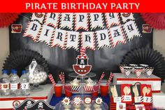 PRINTED Pirate Birthday Party Decorations