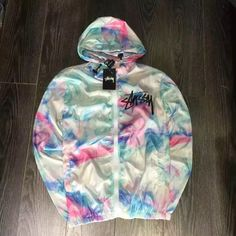 Aliexpress.com : Buy Street tie dye Windbreaker letter ice cream color print zipper Stus Super Handsome tie dyed Coat Sobretudo Feminino Casacos from Reliable coat apron suppliers on Mslove Clothing