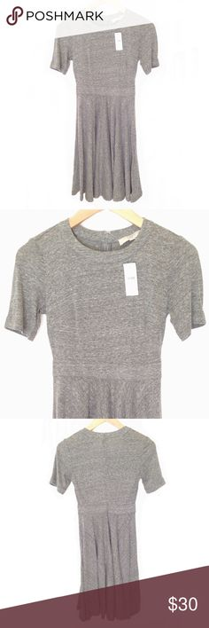 NWT Ann Taylor Loft Gray Tee Shirt Dress This dress is made of a super soft and stretchy tee shirt material.  It is new with tags and can easily be dressed up or down depending on you mood! Ann Taylor Dresses Midi