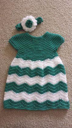 FREE PATTERN...Ravelry: Chevron Chic Baby Dress pattern by Lorene Haythorn Eppolite- Cre8tion Crochet