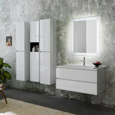 Domino furniture - Wall mounted furniture to give a classically stylish look to your dream bathroom: http://www.cphart.co.uk/bathrooms/furniture/wall_mounted_1 #BathroomFurniture #WallMountedFurniture #Furniture