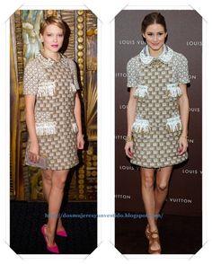 Un vestido de Louis Vuitton Resort 2013 se lo vimos primero a Lea Seydoux en el London Film Festival; después se lo vimos a Olivia Palermo en la inauguración de una tienda de la firma.