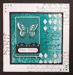 Barb's Faraway Cards: Teal Butterfly