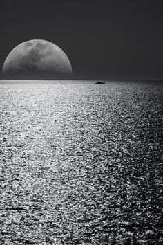 White and Black Moon With Black Skies and Body of Water Photography during Night Time · Free Stock Photo Travel Images, Travel Pictures, Sea Pictures, Water Photography, Landscape Photography, Night Photography, Free Stock Photos, Free Photos, Moon Poems