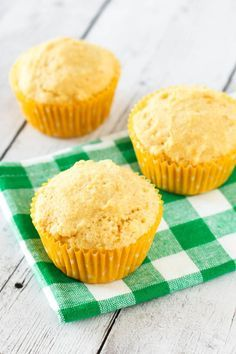 Gluten Free Vegan Sweet Corn Muffins. Perfect served with a bowl of hearty…