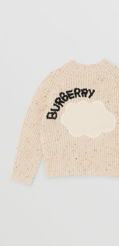 a5c681516db1ed A chunky rib-knit cashmere sweater decorated with weather motifs and # Burberry lettering Cashmere