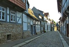 A typical alley in Goslar, Harz