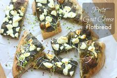 Pesto Goat Cheese Flatbread — The Hobo Kitchen