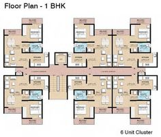 one bedroom cluster floorplans - Google Search | Rautiki Plans ...