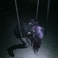 grunge, girl, and dark image