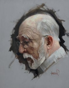"Gallery Henoch - David Kassan, Max, Oil on Aluminum, 10"" x 8"""