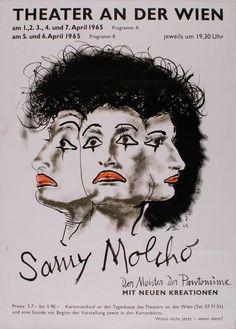 FB / Samy Molcho (Kurztitel) Entstehung / Datierung: Anonym, Entwurf Anonym, Ausführung, Österreich, 1965