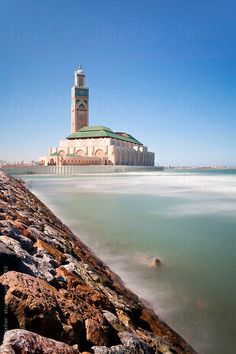 Hassan II Mosque, the third largest mosque in the world, Casablanca, Morocco, North Africa
