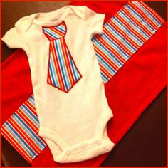 Baby boy tie appliqué onesie with matching burp rag on Etsy, $22.00