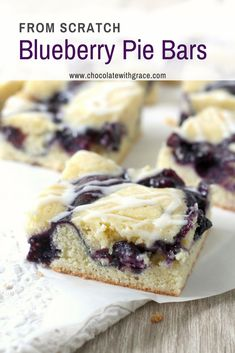 These easy blueberry pie bars are a perfect summer dessert for any picnic, potluck or party. You can either use my easy homemade blueberry pie filling, or take a shortcut and use canned pie filling. Today was one of those perfect summer days. Homemade Blueberry Pie, Blueberry Recipes, Easy Blueberry Desserts, Blueberry Bars, Blueberry Crumble, Blueberry Cheesecake, Cheesecake Bars, Summer Picnic Desserts, Recipes