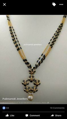 Gold Jewelry In Nepal Code: 5058220704 Gold Mangalsutra Designs, Gold Jewellery Design, Bead Jewellery, Beaded Jewelry, Mangalsutra Simple, Latest Jewellery, Gold Jewelry Simple, Trendy Jewelry, Fashion Jewelry