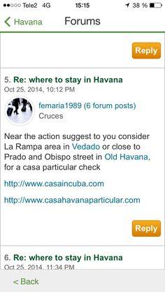 Parts of Havana with good atmosphere