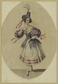 1845 Ballerina fashion plate from - digitalgallery.nypl.org