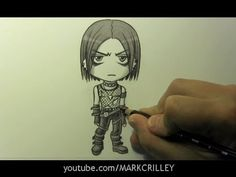 """Drawing Time Lapse: Chibi """"Goth"""" Character"""