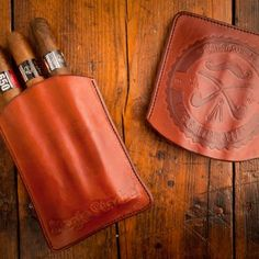 Leather Cigar Case by StacheWarden for BourbonandBoots.com