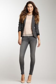 7 For All Mankind  Gwenevere Shadow Skinny Jean