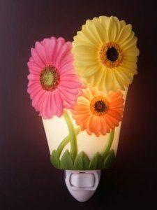 Amazon.com: Gerber Daisy Night Light - Ibis & Orchid Flowers of Light Collection: Home Improvement
