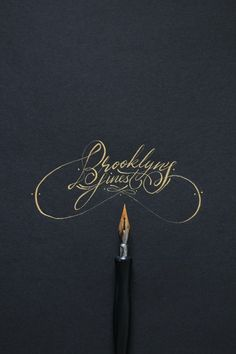 """Brooklyn's Finest"" pointed pen calligraphy and photograph by Ricardo Gonzalez © of Its-a-Living on Instagram: @itsaliving"