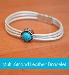 Multi-Strand Leather Bracelet - One Artsy Mama