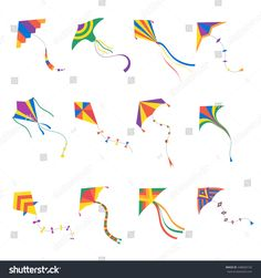 stock-vector-vector-kite-colorful-silhouette-collection-isolated-outdoor-summer-activity-objects-cute-flying-448060150.jpg (1500×1600)