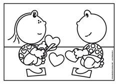Frokkie en Lola knutselen hartjes