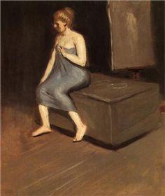 Model sitting - Edward Hopper 1902