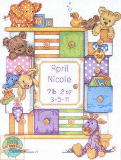 Dimensions - Baby Drawers Birth Record - Cross Stitch World