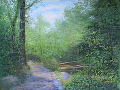 Shenandoah Valley Trail by Sandy Askey-Adams Pastel ~ 18 x 23.5