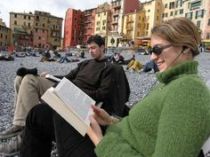 giuliaduepuntozero Reading on the beach, Camogli (Italy)
