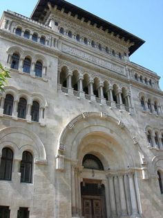 Ion Mincu University of Architecture Bucharest Byzantine Architecture, Revival Architecture, Landscape Architecture, Architecture Design, Beautiful Park, Beautiful Homes, Palace Of The Parliament, Capital Of Romania, The Merchant Of Venice