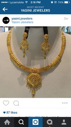 😍 Gold Ring Designs, Gold Bangles Design, Gold Jewellery Design, Gold Wedding Jewelry, Gold Jewelry, Jewlery, Gold Necklaces, Gold Drop Earrings, Gold Mangalsutra