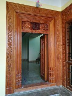 Wooden Front Door Design, Wooden Front Doors, Duplex House Design, Entrance Doors, House Plans, Cots, Carving, Digital, Female Art