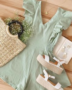 Dressy Outfits, Summer Outfits, Girl Outfits, Cute Outfits, Fashion Outfits, Night Outfits, Women's Fashion, Romper With Skirt, Mom Style