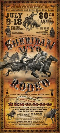 Rodeo poster by Bob Coronato