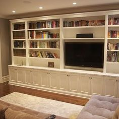 built in bookcase tv cabinet large living room - Google Search