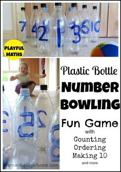 Learn with Play at Home: Plastic Bottle Number Bowling!