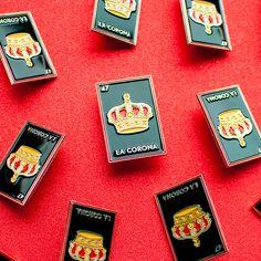 Lotería Card Game Enamel Pins (Set of 3) - La Luna