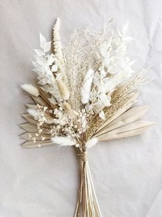 This item is unavailable Natural Dried Fan Palm Bouquet Boho Wedding Flowers, Bridal Flowers, Floral Wedding, Wedding Bouquets, Palm Wedding, Wedding White, Purple Wedding, Dried Flower Bouquet, Dried Flowers