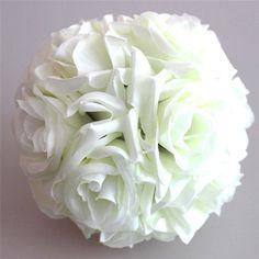 1Pcs 15cm Artificial Silk Flower Rose Kissing Balls Bouquet Centerpiece Pomander Party Wedding Centerpiece decorations